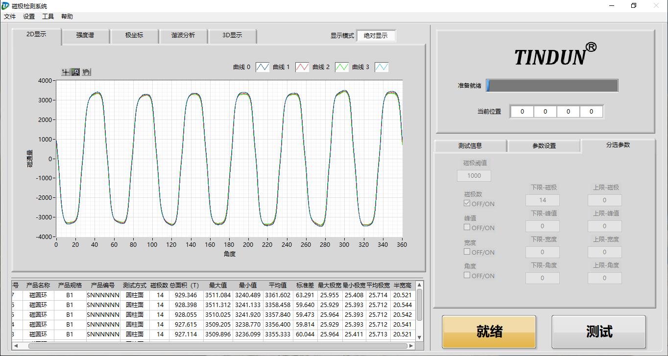 完美测试永磁电机转子磁钢分段斜极角(图2)