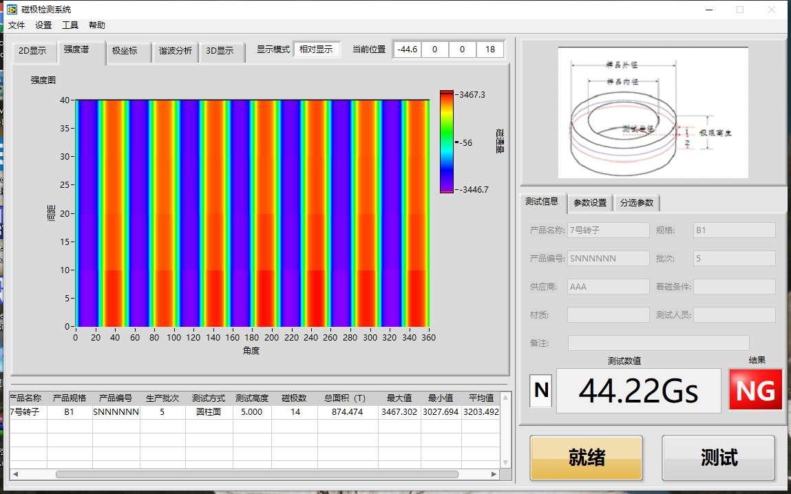 完美测试永磁电机转子磁钢分段斜极角(图5)